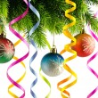 Stock Photo: Christmas decoration on the white