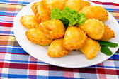 Meat patties in the plate — Стоковое фото