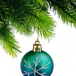 Christmas concept with baubles on white — Stockfoto