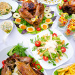 Table served with tasty meals — Stock Photo #7550088
