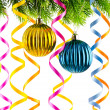 Holiday christmas decoration on white — Stock Photo #7550405