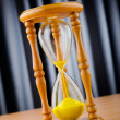 Stock Photo: Time concept with hour glass