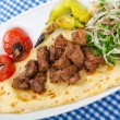 Kebab served in the plate — Stock Photo #7551614