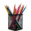 Colourful pencils isolated on white — Stock Photo
