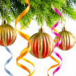 Christmas decoration on the white — Stock Photo