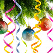 Christmas decoration on the white — Foto Stock