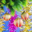 Baubles on christmas tree in celebration concept — Stock Photo #7556249