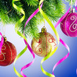 Baubles on christmas tree in celebration concept — Stock Photo #7556277