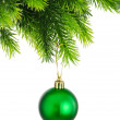 Christmas concept with baubles on white — Foto Stock