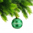 Christmas concept with baubles on white — Stock Photo #7556334