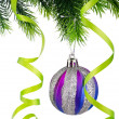 Christmas concept with baubles on white - Foto de Stock