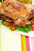 Peru assado na mesa festiva — Foto Stock