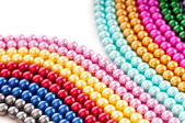 Abstract with colourful pearl necklaces — Foto Stock