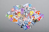 Paper cuttings on the table — Stock Photo