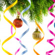 Christmas decoration on the white - Stockfoto