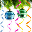 Holiday christmas decoration on white - 