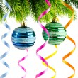 Stock Photo: Holiday christmas decoration on white