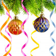 Holiday christmas decoration on white - Foto Stock