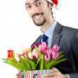 Businessman in christmas celebration concept - Stock Photo
