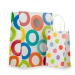 Stock Photo: Shopping concept with bag on white