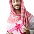 Young arab with giftbox — Stock Photo #7879227