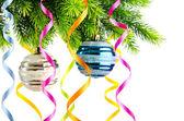 Holiday christmas decoration on white — Stock Photo