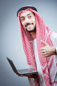 Diversity concept with young arab — Stock Photo