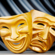 Masks with the theatre concept — Stock Photo #7889056