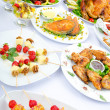 Table served with tasty meals — Stock Photo #7889083