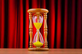 Time concept with hourglass — Stockfoto