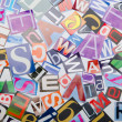 Cut letters from newspapers and magazines — Stock Photo #7890218