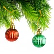 Christmas concept with baubles on white — Stock Photo #7890440