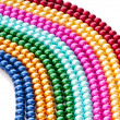 Abstract with colourful pearl necklaces — Stock Photo #7890593