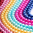 Abstract with colourful pearl necklaces — Stock Photo #7890686