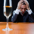 Msuffering from alcohol abuse — Stock Photo #7892431