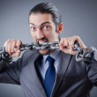 Arrested businessmin studio shooting — Stock Photo #7894575