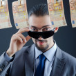 Criminal laundering dirty money — Stock Photo #7897924