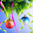 Stock Photo: Baubles on christmas tree in celebration concept