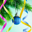 Baubles on christmas tree in celebration concept — Stock Photo #7899025