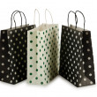 Shopping bag isolated on the white — Stock Photo