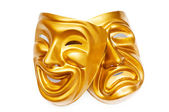 Masks with the theatre concept — Stockfoto