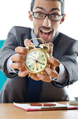 Concept with businessman missing deadline — Stock Photo