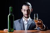 Man tasting wine in glass — Stock Photo