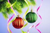 Adornos de árbol de Navidad en concepto de celebración — Foto de Stock
