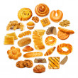 Circle with lots of food items — Stock Photo