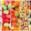 Collage of various sweets — Stock Photo