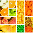 Set of various fruit and vegetables — Stock Photo