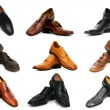 Various shoes isolated on the white - Foto de Stock