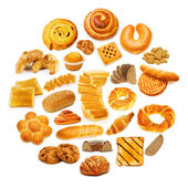 Circle with lots of food items — Foto de Stock