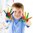 Little boy and bright colors — Stock Photo #7095823